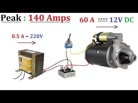 12v 60a Dc De 220v Ac Para Motores Dc De Alta Corriente Hasta 1000w Idea Increible Youtube Free Energy Generator Motor Generator Free Energy