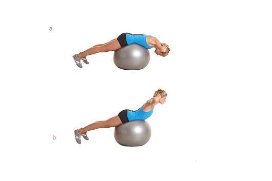 Das Po-Workout: Rückenstrecken auf dem Ball