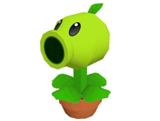 Plants vs. Zombies - Peashooter Ver.3 Free Papercraft Download