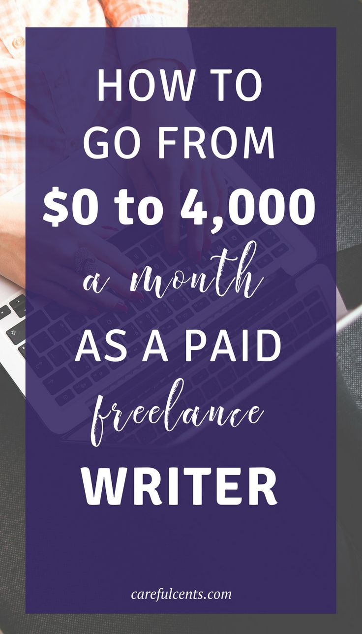 Learn how to become a freelance writer and go from $0-4,000 or more per month! paid freelance writer | freelance writing clients | start freelance writing | learn to freelance write | be a freelance writer
