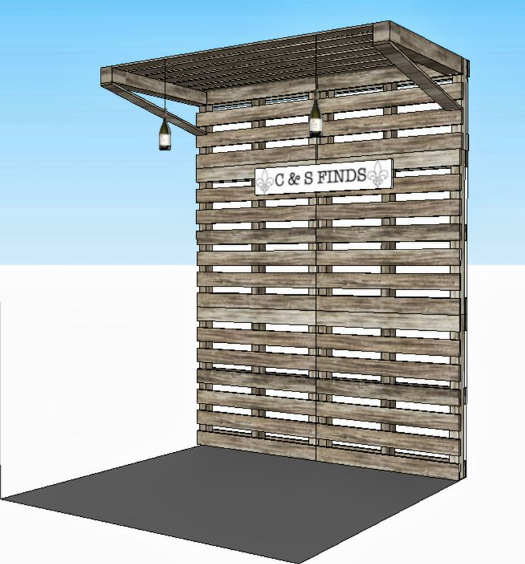 shipping pallet booth - Google Search More