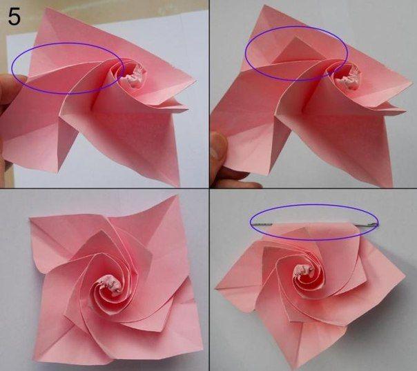 Rose Aus Papier Falten Blumen Basteln Anleitung Dekoking Com 5 Papier Falten Blume Rosen Aus Papier Papier Falten