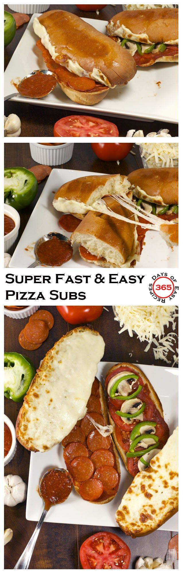 These Super Fast Pizza Subs are perfect for dinner on those busy nights