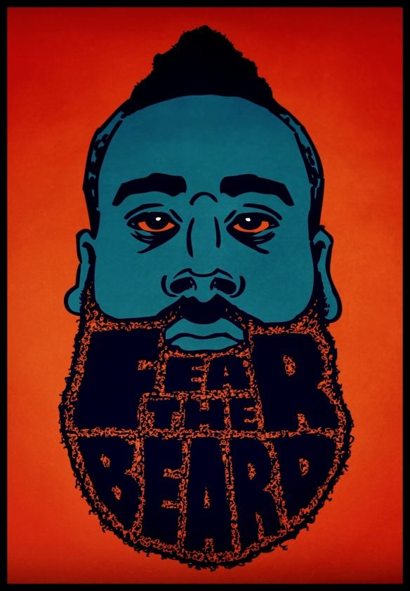 James Harden, OKC - Best beard in the NBA? #basketball #NBA #jamesharden
