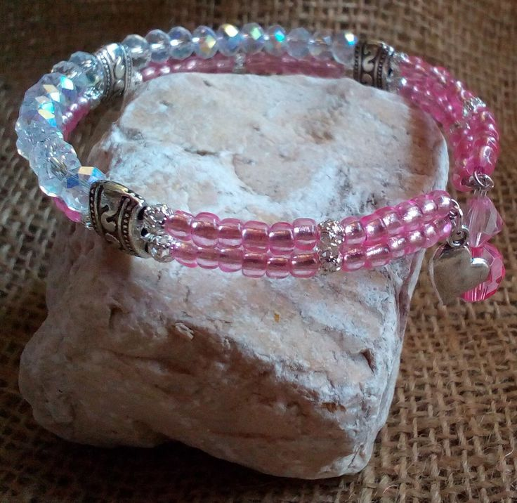 Double row memory wire bracelet by CouleursDuSud on Etsy