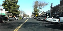 "Pollasky Avenue, Old Town Clovis.  Motto:  ""Gateway to the Sierras"""