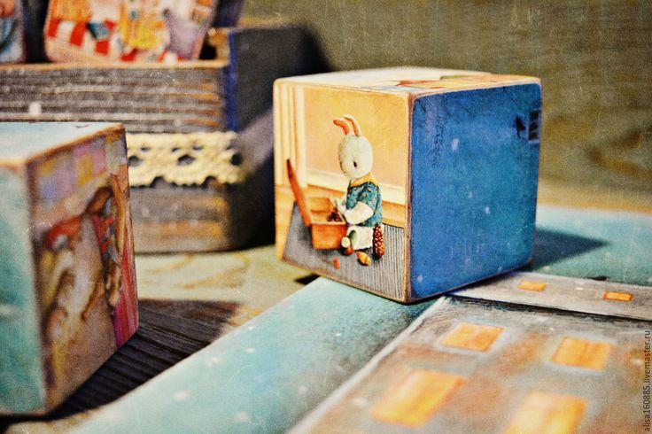 """Купить Кубики """"Воспоминания о счастливом детстве"""" - разноцветный, детские кубики, развивающие кубики"""