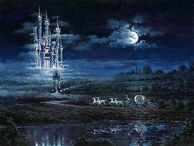 Cinderella - Moonlit Castle - Rodel Gonzalez - World-Wide-Art.com - $595.00 #Disney #RodelGonzalez