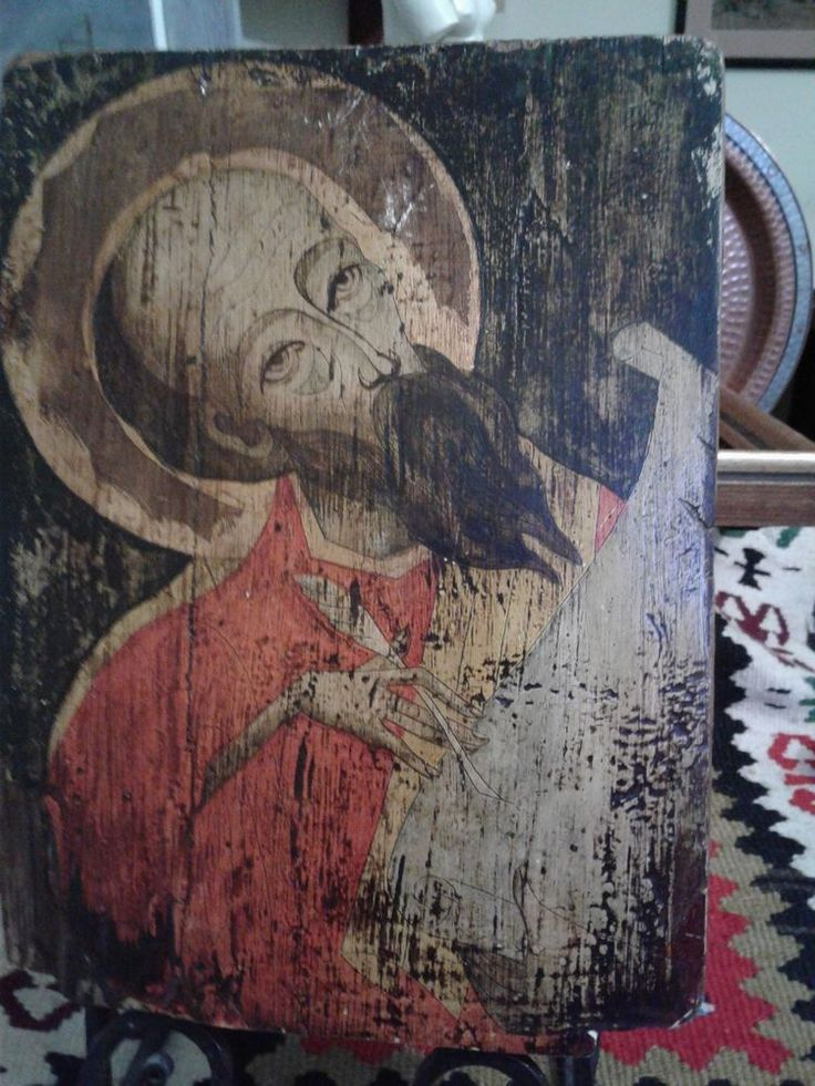 Antique Russian Icon Painting Orthodox Wooden Gold Old Painted | eBay