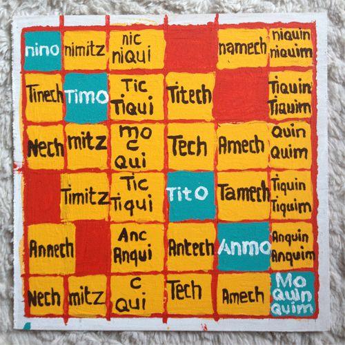 """Tabla para usar verbos transitivos en náhuatl Los verbos transitivos son aquellos en los que la acción recae en un tercero. En esta tabla las filas de arriba a abajo representan los pronombres (yo, tú, él/ella, nosotros, ustedes y ellos/ellas) y las columnas de izquierda a derecha representan la persona sobre la que recae la acción (a mí, a ti, a él/ella, a nosotros, a ustedes, a ellos).Tenemos entonces que si queremos decir """"yo los escucho a ustedes"""" tomamos el prefijo ..."""