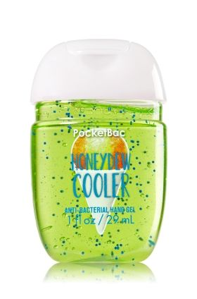 Honeydew Cooler - PocketBac Sanitizing Hand Gel - Bath & Body Works - Now with more happy! NEW PocketBac is perfectly shaped for pockets & purses, making it easy to fight germs on-the-go! Plus, our all-new skin softening formula contains powerful germ-killers that keep your hands clean & soft.