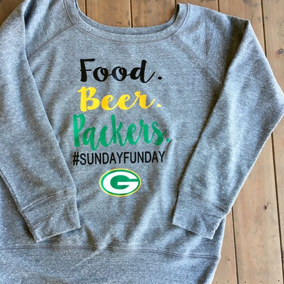 Green Bay Packers Shirt Food Beer Packers by SSCBOWTIQUE on Etsy