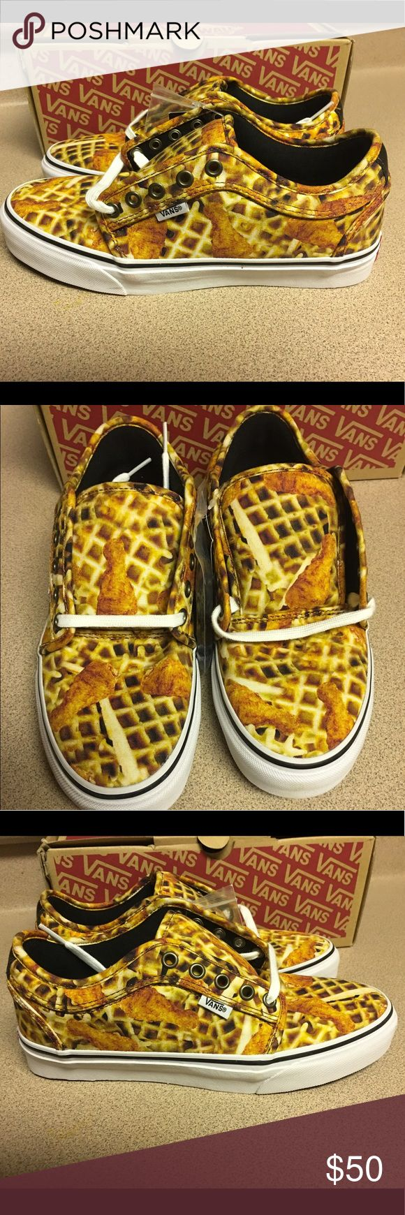 NEW VANS CHUKKA LOW CHICKEN + WAFFLES MEN'S SZ 7 VANS CHUKKA LOW CHICKEN + WAFFLES WHITE MEN'S SIZE 7 NEW IN BOX Vans Shoes Sneakers