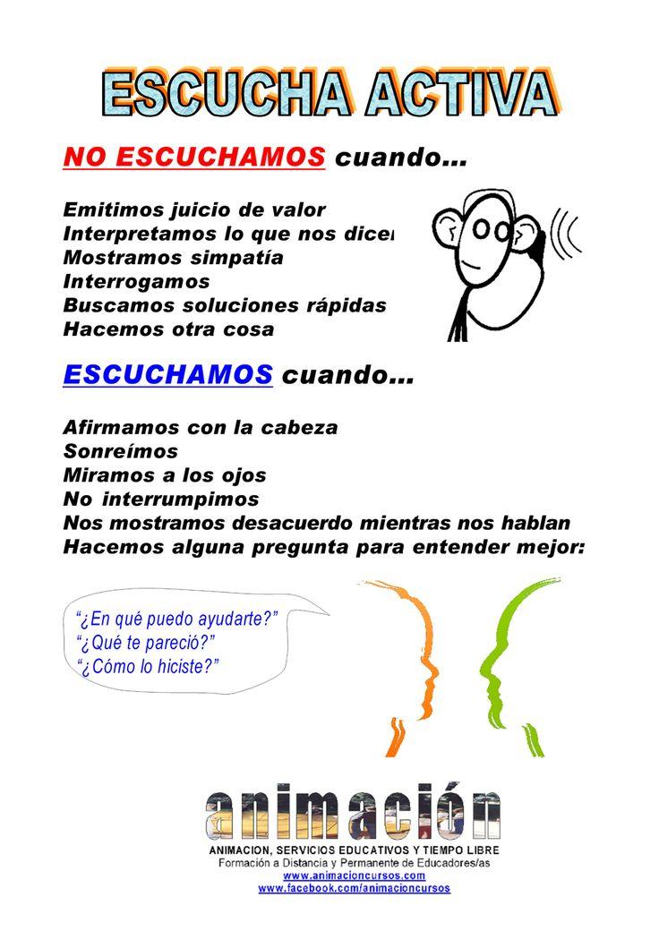 Escucha activa. Habilidades Sociales. Dinamica de Grupos. CURSO a distancia toda España y Latinoamerica: ANIMADOR ESPECIALISTA EN DINAMICA DE GRUPOS http://www.animacion.synthasite.com http://animacioncursos.com http://pinterest.com/animacioncursos https://animacioncursos.jux.com http://www.facebook.com/animacioncursos http://www.youtube.com/user/animacionservicios http://twitter.com/cursosanimacion