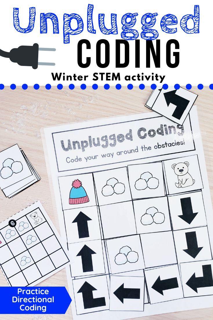 Winter Unplugged Coding Activity Unplugged Coding Activities Coding For Kids Basic Coding [ 1102 x 735 Pixel ]