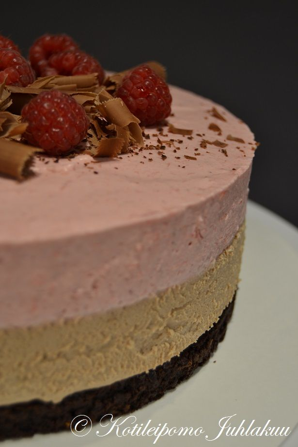 Chocolate and raspberry mousse cake - Recipe included!