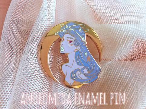 Andromeda Enamel Pin