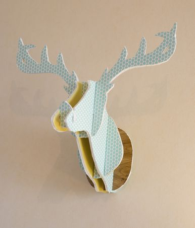 DIY - cardboard deer  head, so awesome....might have to do a giraffe head like this