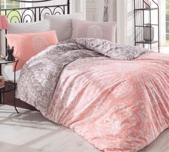 Holey Quilt obliečky Bavlna Deluxe  Chloe lososová 140x200, 70x90cm