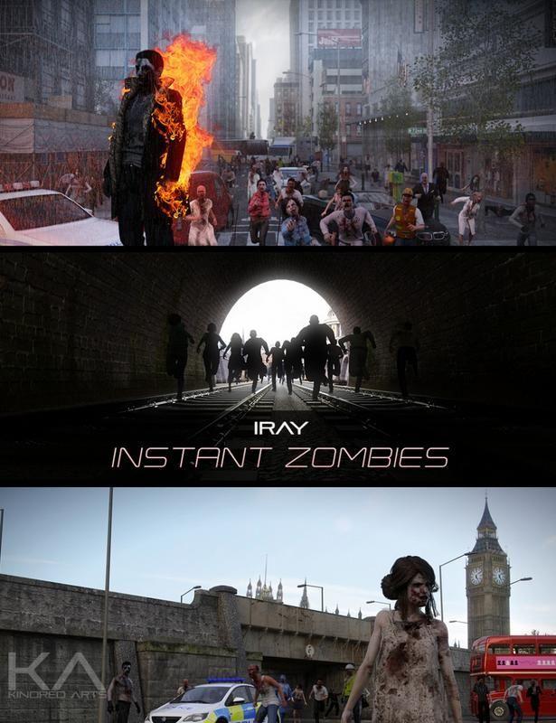 Iray Instant Zombies | Daz Poser | Zombie apocalypse, Movie