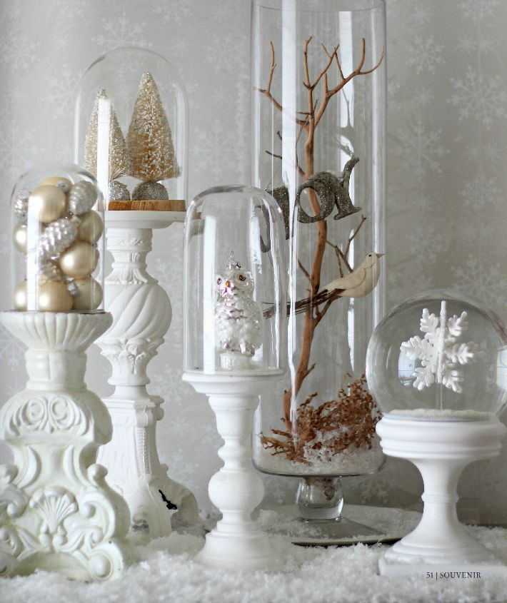 holiday decor white souvenir magazine