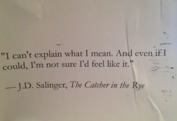 {J.D. Salinger}, The Catcher in the Rye