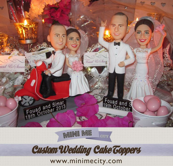 $299 Custom Wedding Cake Toppers made from your photo. Custom Wedding Cake Toppers made from your photos! Wedding idea, Caketopper, funny wedding cake toppers, personalised wedding cake topper, personalized cake toppers, cake tops, wedding cake figurines, cake topper ideas.