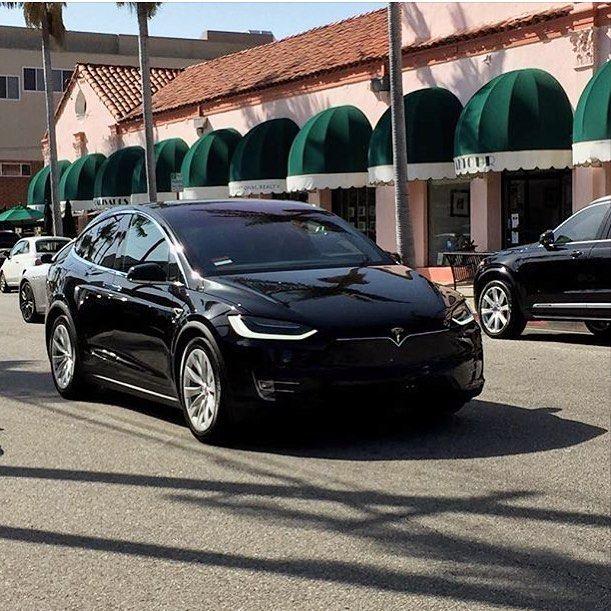 No Nose Cone Zone Solid Black Tesla Model X 90d Cruising Through