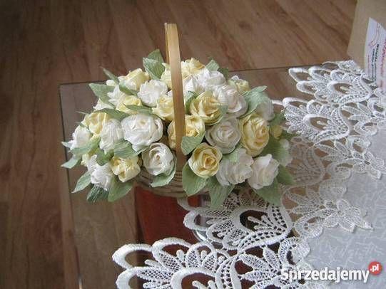 Kwiaty z bibuły krepy krepiny ozdoba domu Zagórze
