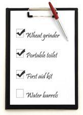 Non-food Emergency Storage Checklist