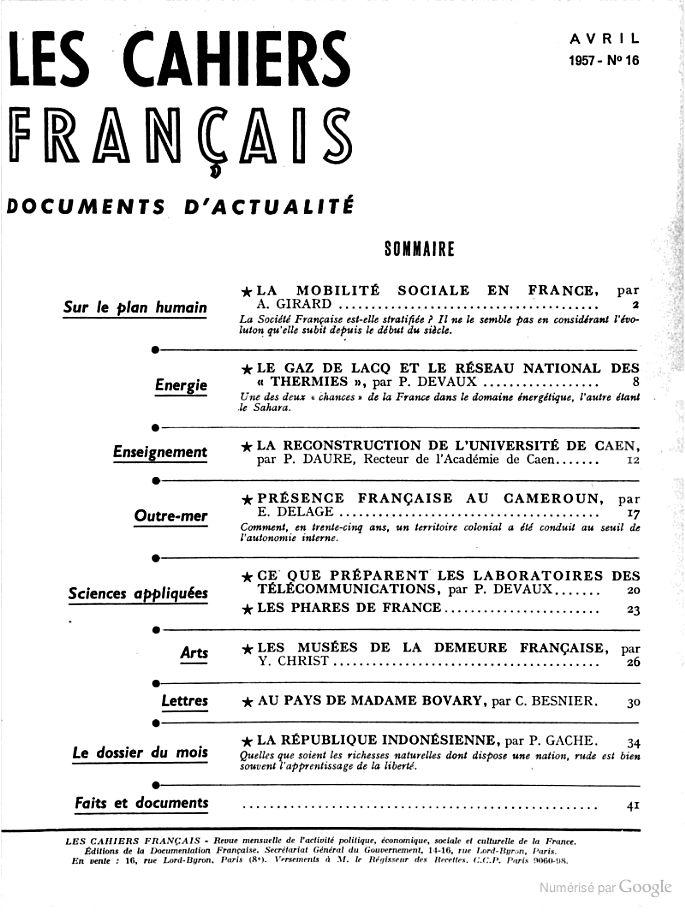 La reconstruction de l'Université de Caen de Pierre Daure (Les Cahiers français: documents d'actualité, avril 1957, n° 16, pp. 12-14) http://documentation.unicaen.fr/clientBookline/service/reference.asp?INSTANCE=incipio&OUTPUT=PORTAL&DOCID=default:UNIMARC:41648&DOCBASE=SARA2EVERFLORA