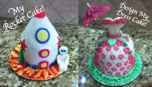 """My Rocket Cake"" or  ""Design My Dress Cake"""