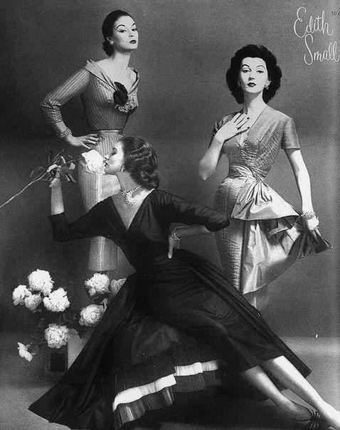 """""""Великая тройка"""" - три супермодели 50-х годов: Джин Пэтчетт, Довима и Сьюзи Паркер."""