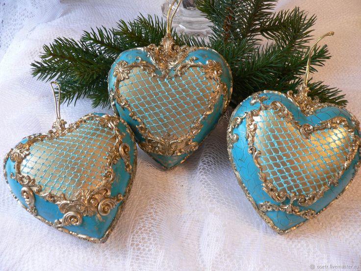 Купить Набор ёлочных игрушек Новогодний - Декупаж, Новый Год, дети, рождество, елочные украшения
