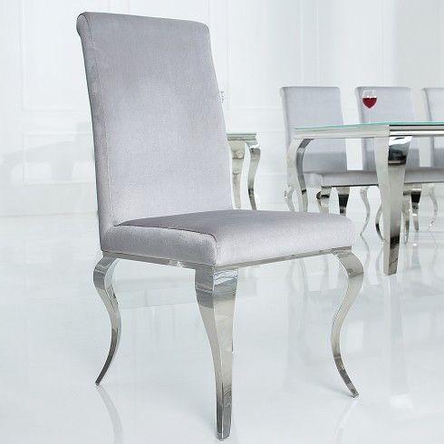 Stylischer Design Stuhl Barock Grau Riess Ambiente De Design Stuhle Barock Mobel