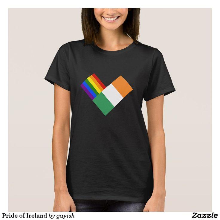 Pride of Ireland t-shirt.  #gaypride #gayrights #tshits #prideshirt #pride #flags #heart #eire #ireland #gayeire #gayireland