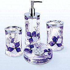 purple bathroom decor is fun unique and pretty i love all the different ways
