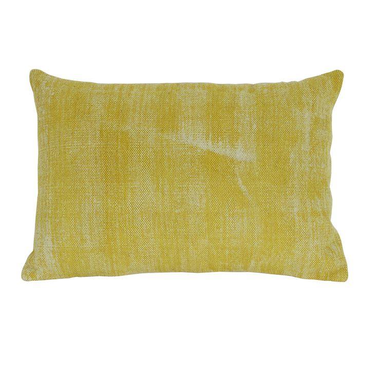 ... binnenvulling. De afmeting van sierkussen Izmir in het geel is 40x60