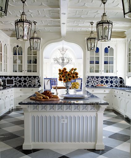 Blue And White Kitchen 46 best blue & white tiled kitchen images on pinterest | tiles