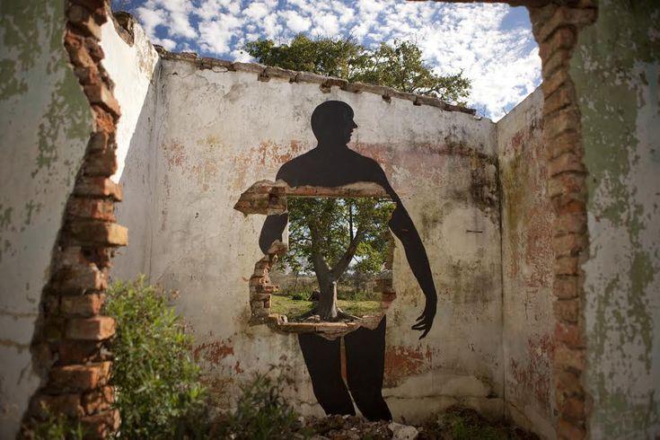 "By David de la Mano in Villa Soriano, Uruguay. ""I could paint this wall with thanks to Vatelón Residence"". Photos: Andrés Boero Madrid."
