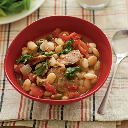 Sauteed Spinach With White Beans And Pine Nuts Recipe ...