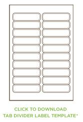 10 tab divider template - tab divider printable one more for file folder label at