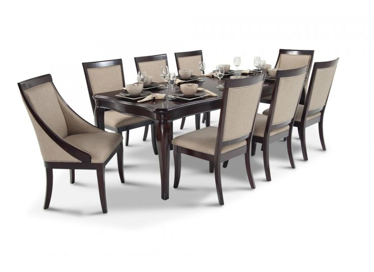 gatsby 9 piece dining set with side chairs u0026 swoop chairs