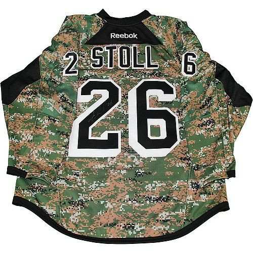 Jarret Stoll Autographed New York Rangers Camo Warm-Up Jersey Military Appreciation * Check out this great product.