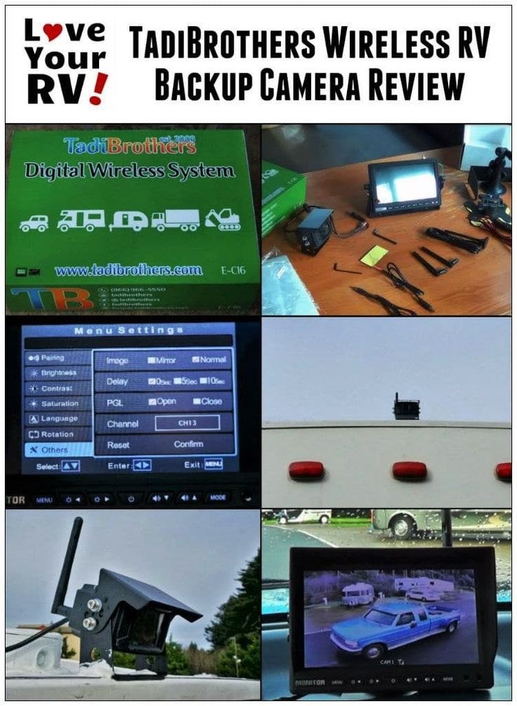 Review of the TadiBrothers Wireless Backup Camera System by the Love Your RV! blog - http://www.loveyourrv.com/reviewing-tadibrothers-rv-backup-camera/ #RVing #RVupgrades