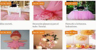 Indice de ideas para fiestas de Ballet.
