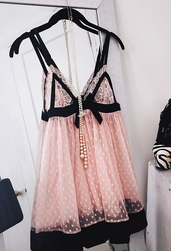 This pink lacy babydoll is a definite summer favorite! - Lingerie, Sleepwear & Loungewear - http://amzn.to/2ieOApL
