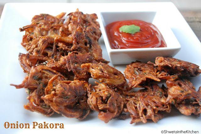 Shweta in the Kitchen: Kanda Bhaji - Onion Pakora - Onion Fritters