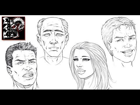 How to Draw Comic Book Faces Video - Sketchbook Pro 7 - Narrated by Robe...