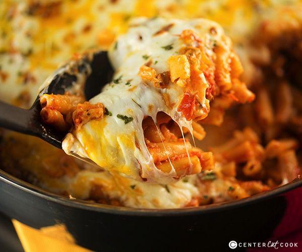 Easy Skillet Baked Ziti | Recipe
